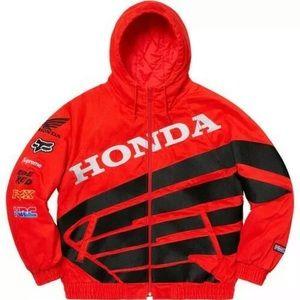 SUPREME Honda Fox Puffy Zip Up Jacket • RED • M•